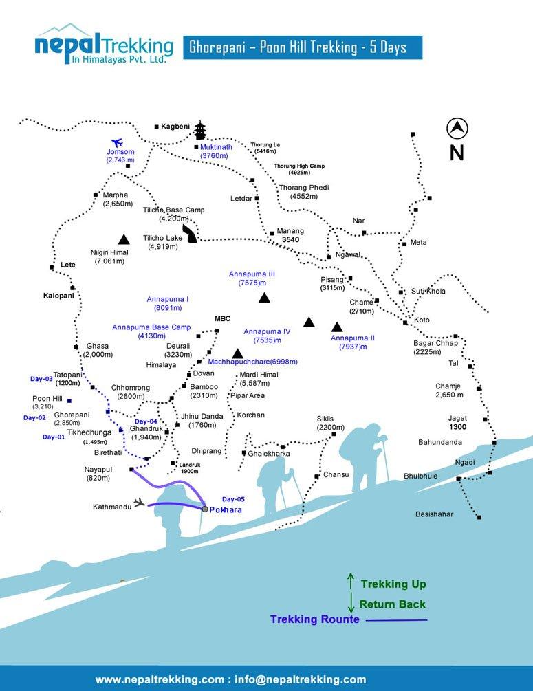 Ghorepani – Poon Hill Trekking Map