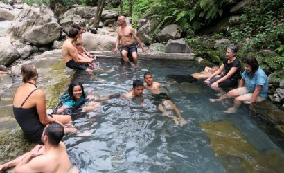 Natural Hot Spring while Annapurna Trekking
