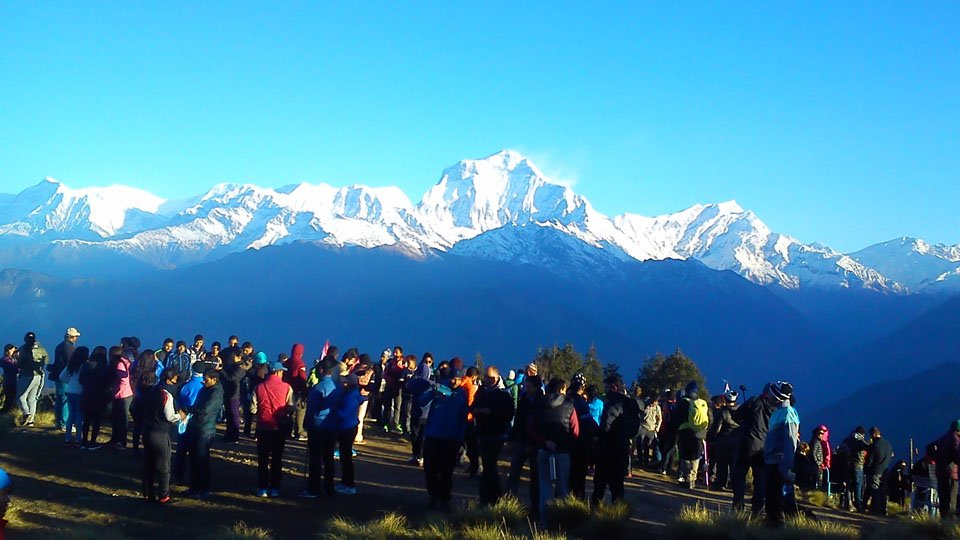 View From Ghorepani Poonhill