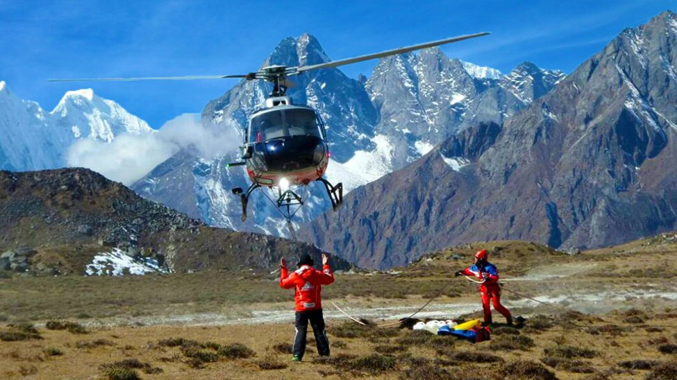 Emergency medical evacuation cost Everest