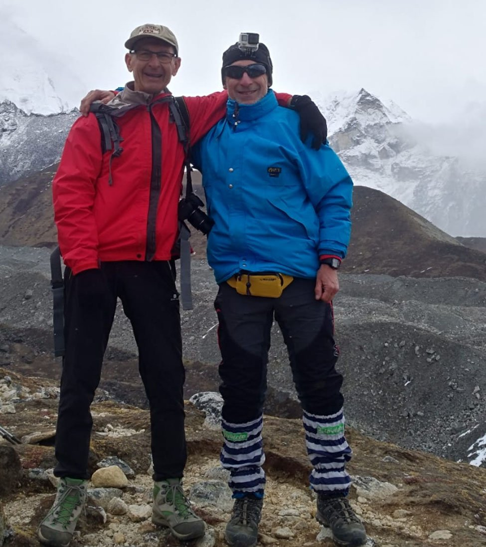 Franco and His Friend at Everest Three Pass Trekking
