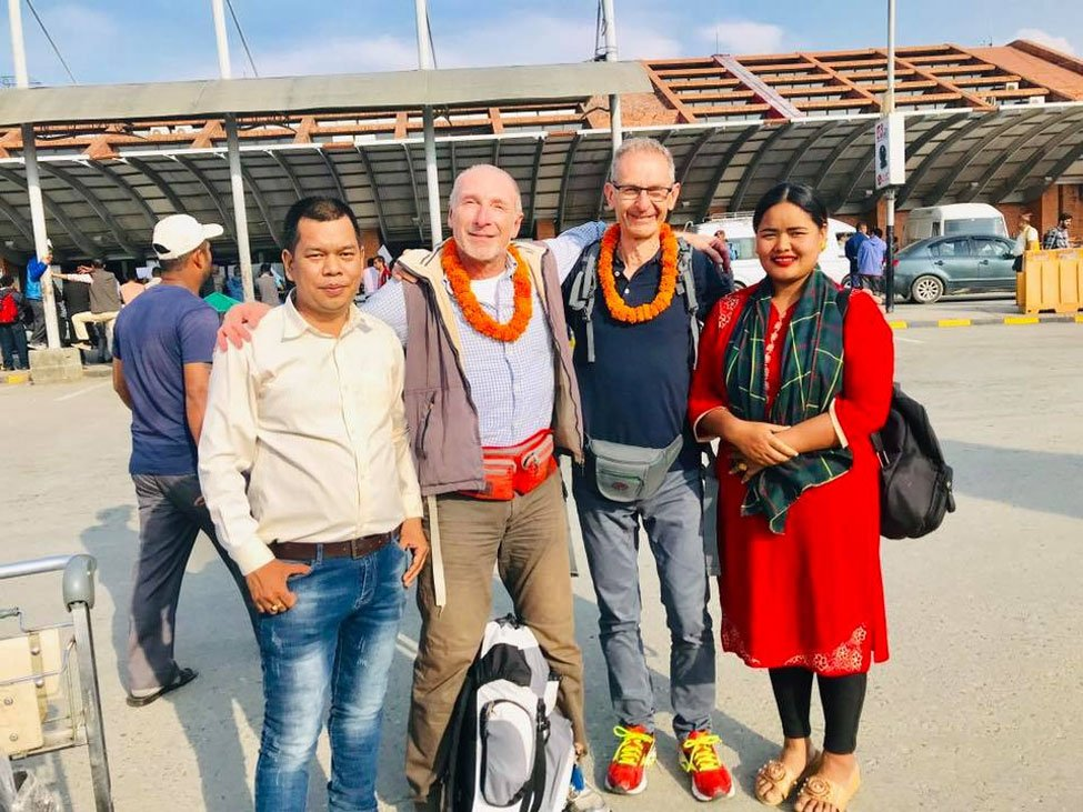 Welcome Franco and His friend for Everest Three Pass Trekking