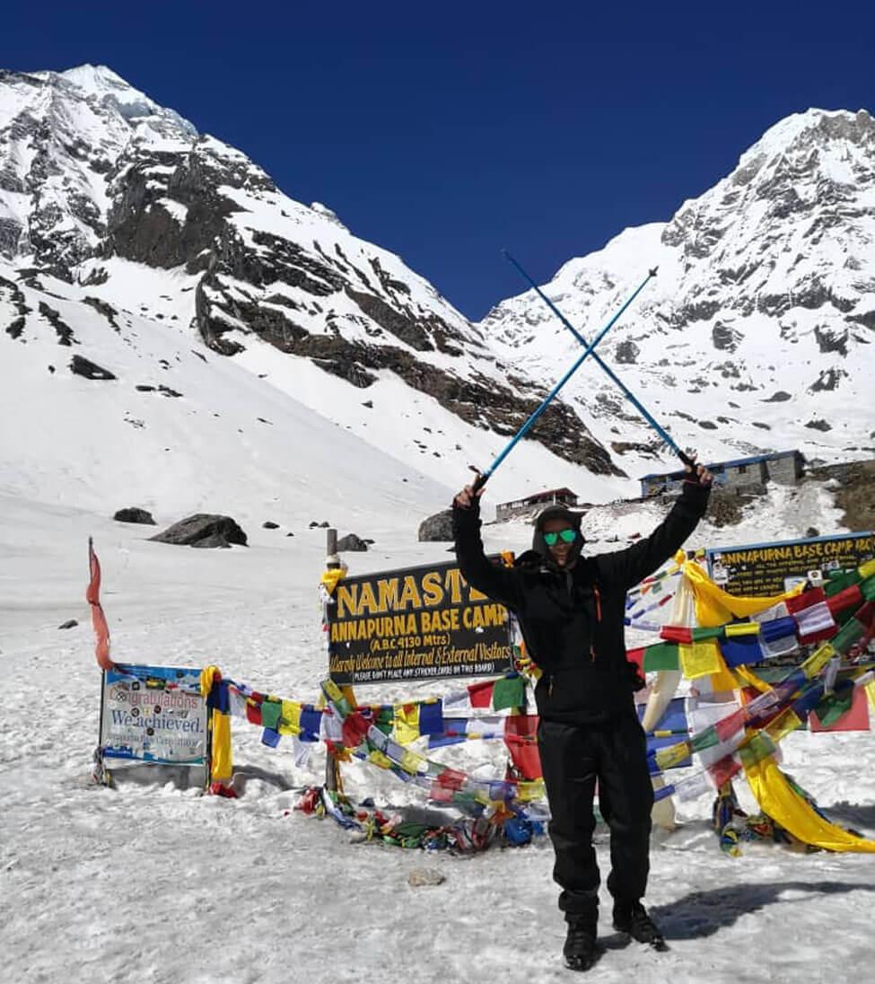 Zhiqiang Zhang At Annapurna Base Camp