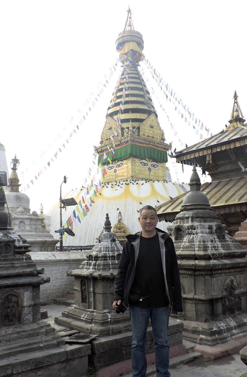 Zhiqiang Zhang At Monkey Temple Kathmandu