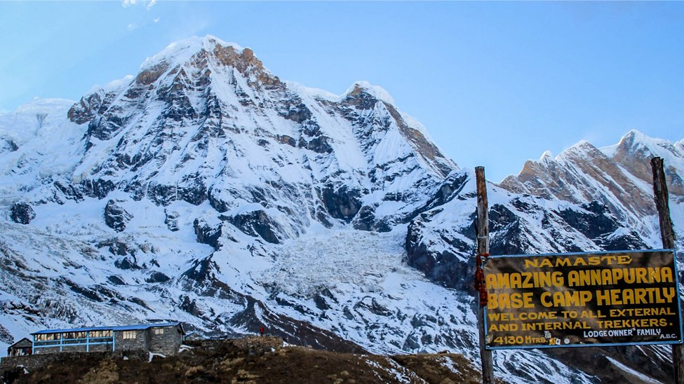 Scenic Views in October in Annapurna Base Camp