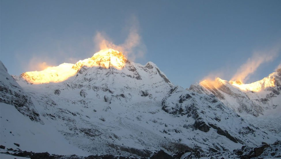 Stunning sight of Annapurna